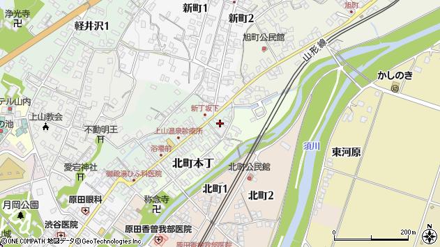 山形県上山市新丁6周辺の地図