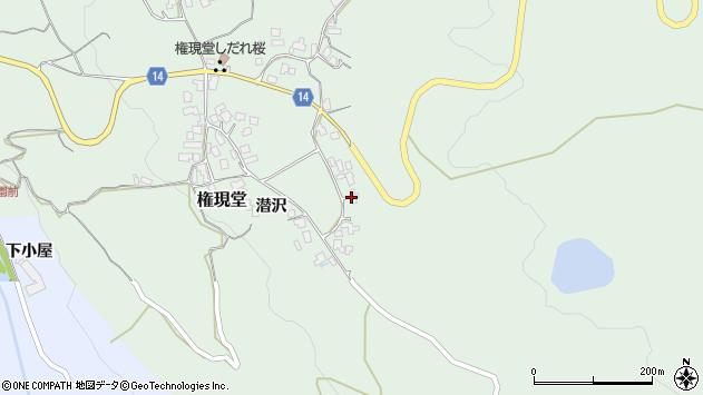 山形県上山市権現堂50周辺の地図