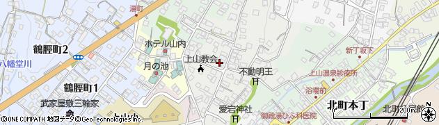 山形県上山市御井戸丁周辺の地図