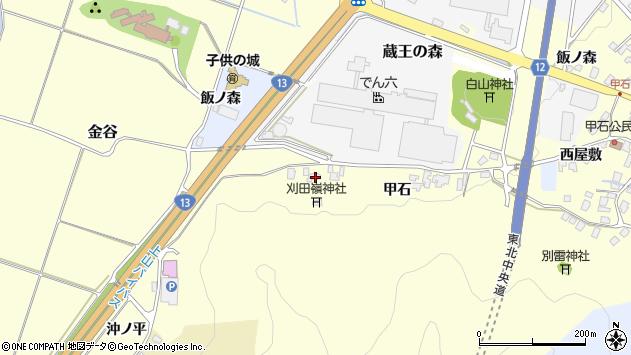 山形県上山市金谷432周辺の地図