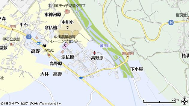山形県上山市高野113周辺の地図