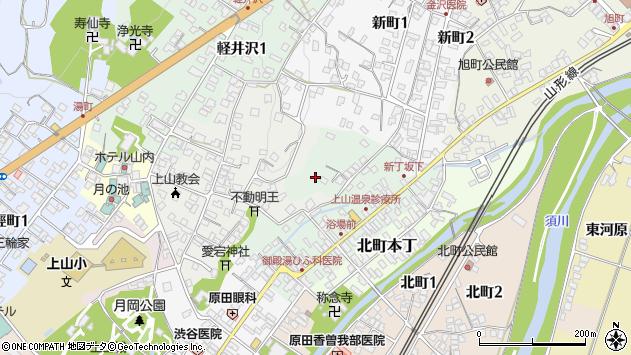 山形県上山市新丁9周辺の地図