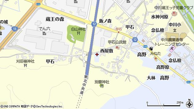 山形県上山市高野飯ノ森5周辺の地図