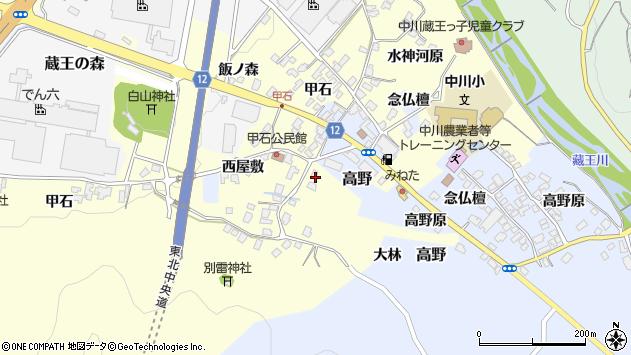 山形県上山市金谷甲石534周辺の地図