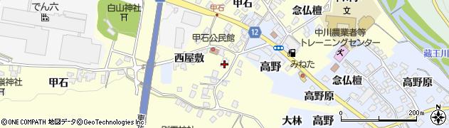 山形県上山市金谷甲石479周辺の地図
