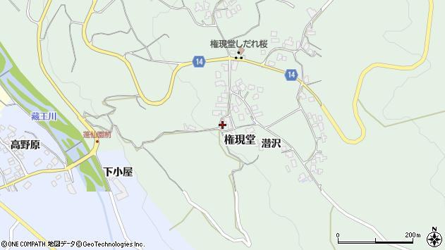 山形県上山市権現堂26周辺の地図