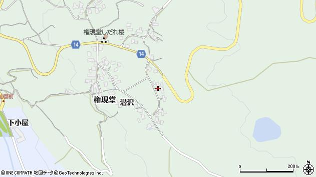 山形県上山市権現堂51周辺の地図
