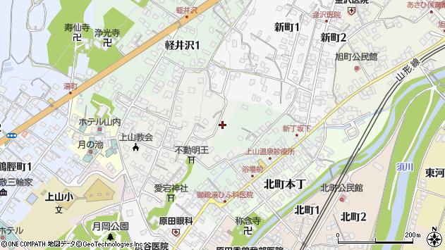 山形県上山市御井戸丁9周辺の地図