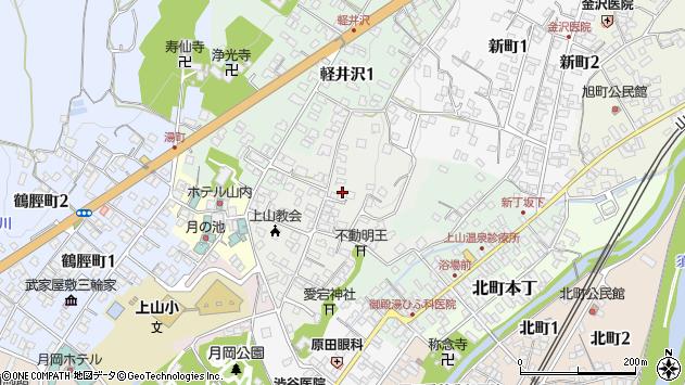 山形県上山市御井戸丁6周辺の地図