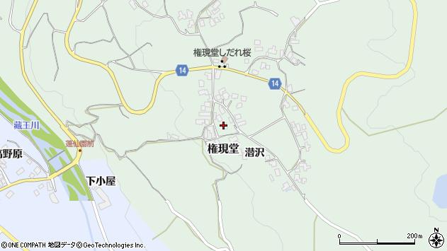 山形県上山市権現堂1周辺の地図