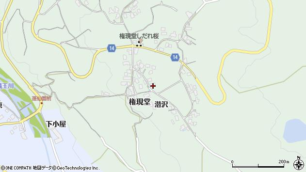 山形県上山市権現堂2周辺の地図