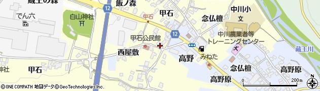 山形県上山市金谷甲石532周辺の地図