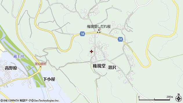 山形県上山市権現堂17周辺の地図