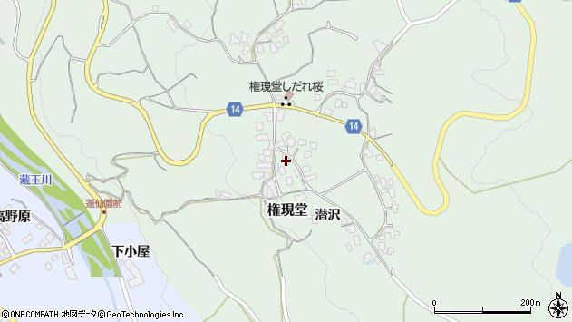 山形県上山市権現堂6周辺の地図