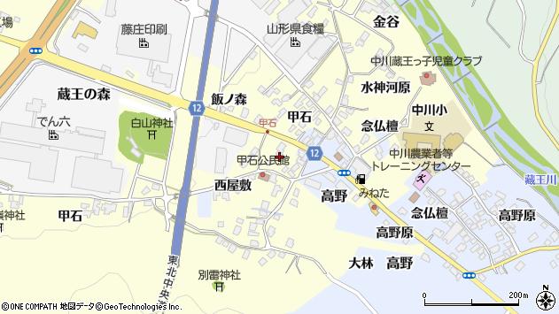 山形県上山市高野念仏檀8周辺の地図