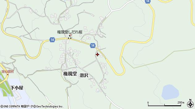 山形県上山市権現堂56周辺の地図