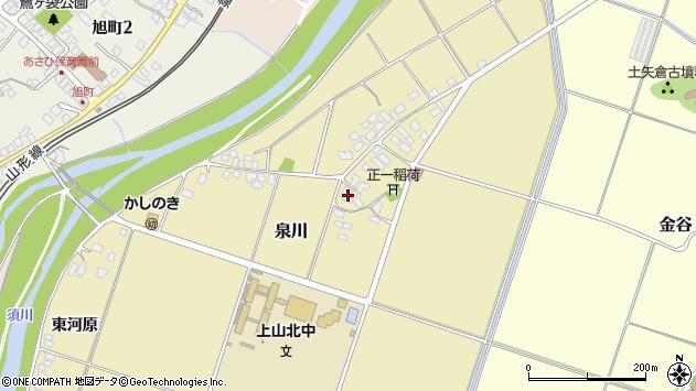 山形県上山市泉川1周辺の地図