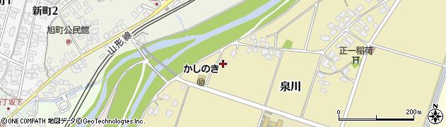 山形県上山市泉川東河原384周辺の地図