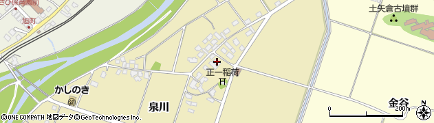 山形県上山市泉川5周辺の地図