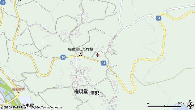 山形県上山市権現堂68周辺の地図