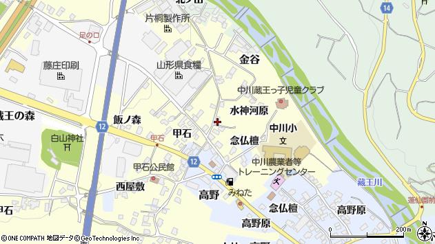 山形県上山市金谷念仏檀周辺の地図