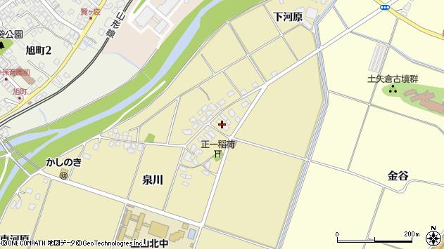 山形県上山市泉川7周辺の地図