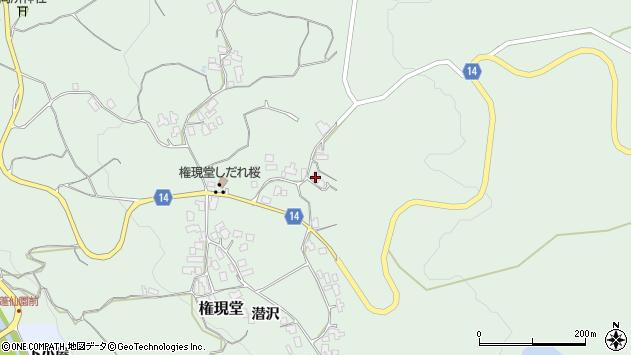 山形県上山市権現堂63周辺の地図