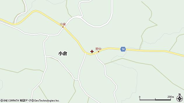 山形県上山市小倉66周辺の地図