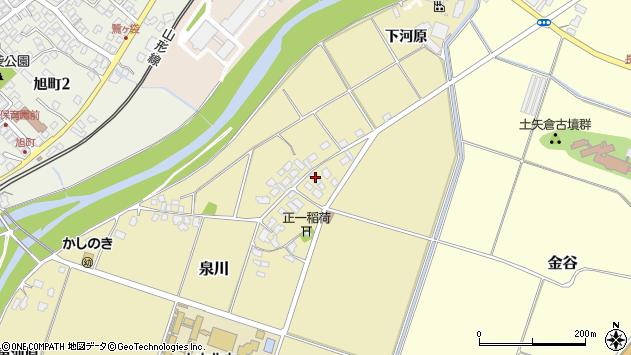 山形県上山市泉川9周辺の地図