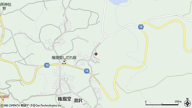 山形県上山市権現堂64周辺の地図