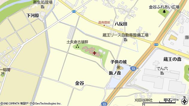 山形県上山市金谷土矢倉周辺の地図