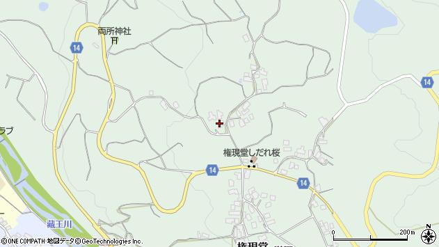 山形県上山市権現堂84周辺の地図