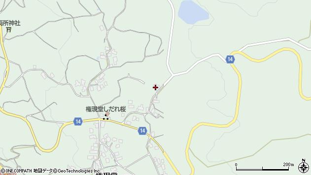 山形県上山市権現堂106周辺の地図