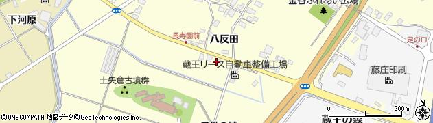 山形県上山市金谷八反田382周辺の地図