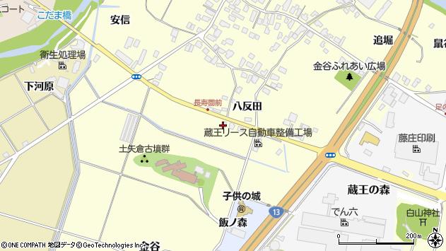 山形県上山市金谷藤木1707周辺の地図