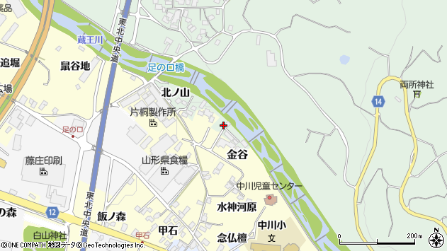 山形県上山市権現堂東1262周辺の地図