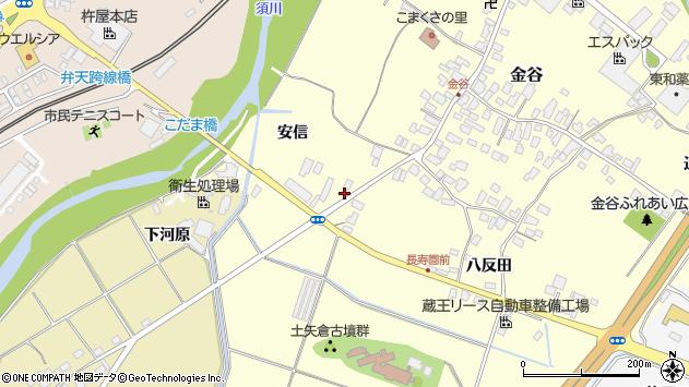 山形県上山市金谷藤木257周辺の地図