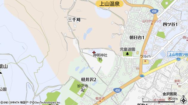 山形県上山市鶴脛町伊勢堂周辺の地図