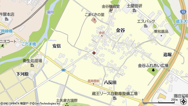 山形県上山市金谷2周辺の地図