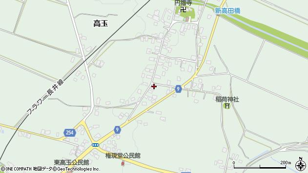 山形県西置賜郡白鷹町高玉1057周辺の地図