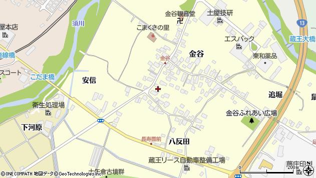 山形県上山市金谷3周辺の地図