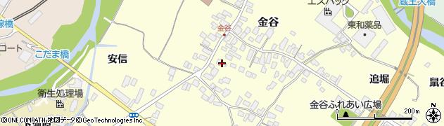 山形県上山市金谷5周辺の地図