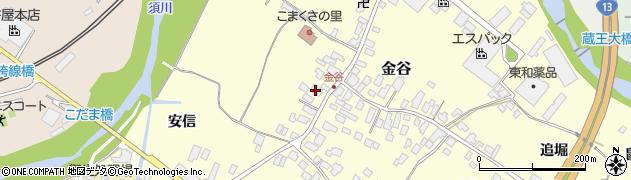 山形県上山市金谷11周辺の地図