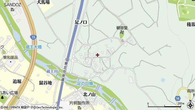 山形県上山市権現堂376周辺の地図