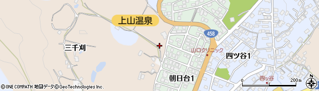 山形県上山市北町三千刈810周辺の地図