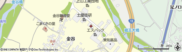 山形県上山市金谷原周辺の地図