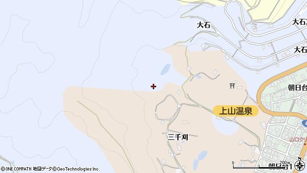 山形県上山市鶴脛町追立平328周辺の地図