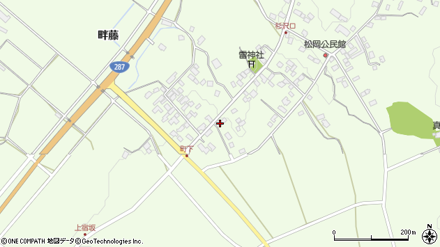 山形県西置賜郡白鷹町畔藤2596周辺の地図