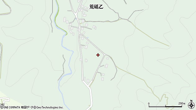 山形県西置賜郡白鷹町荒砥乙上貝生周辺の地図