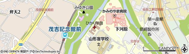 山形県上山市金谷金ケ瀬周辺の地図
